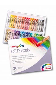 Kredki Pastele 36 kolorów PENTEL