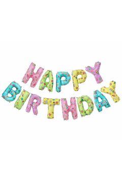Balony foliowe - litery Happy Birthday