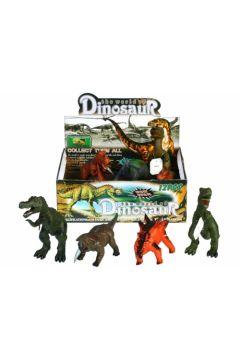 Dinozaur gumowy z dźwiękiem 25cm MC Cena za 1szt