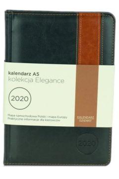 Kalendarz A5 2020. Elegance grafit/jasny brąz