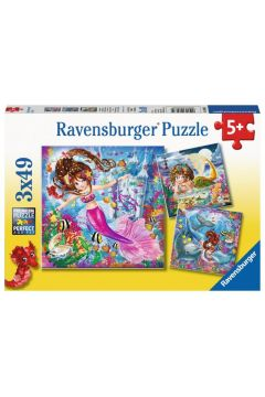 Puzzle 3x49el Urocze Syrenki 080632 RAVENSBURGER