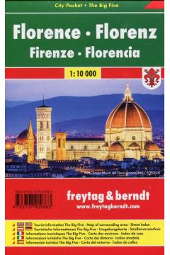 Florencja mapa laminowana 1:10 000