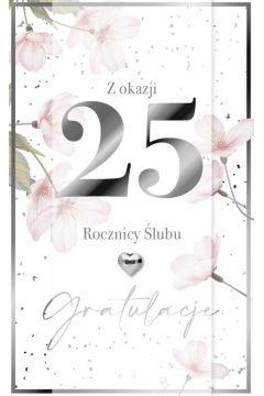 Karnet Rocznica Ślubu 25 LUX-45