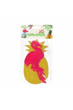 GIRLANDA PAP 300X20CM GO FLAMINGO PARTY PBH