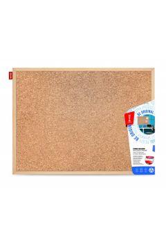 Tablica korkowa 80x50 cm drewniana AMEX MTC080050