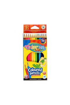 Kredki colorino kids ołówkowe heksagonalne 12 kolorów