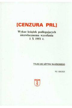 Cenzura PRL Wykaz książek podlegających ...