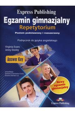 Egzamin gimnazjalny Repetytorium Answer Key