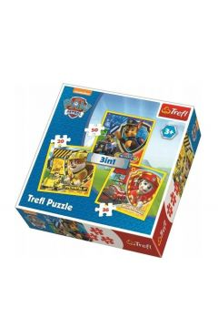 Puzzle 3w1 Psi Patrol Marshall, Rubble i Chase TRE