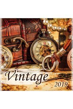 Kalendarz 2019 ścienny kwadrat Vintage