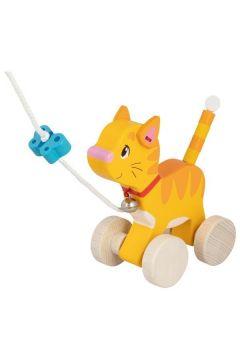 Drewniany kot do ciągnięcia