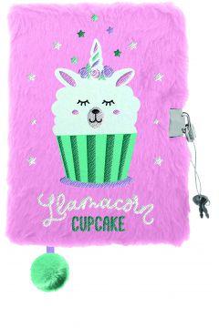 """Pamiętnik z kłódką """"włochacz"""" A5 Lama Cupcake"""