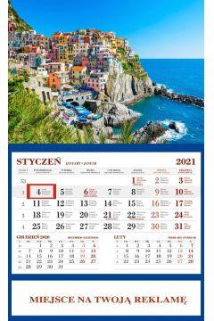 Kalendarz 2021 Ścienny Jednodzielny Cinque Terre