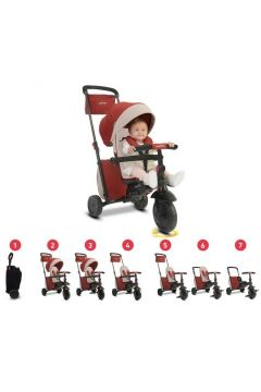 Smart Trike Składany rowerek Folding Trike™ 600 7w1 - czerwony