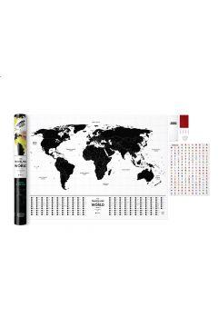 Mapa Zdrapka Travel Map Glow World