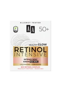Retinol Intensive 50+ intensywny krem na noc Redukcja Ujędrnienie + Odbudowa Multilift Peptide & Reishi Bio