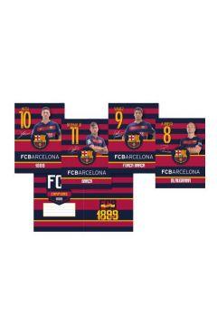 Zeszyt MO A5 16k trzy linie FC Barca Fan 4 1szt