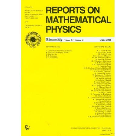 Reports on Mathematical Physics 67/3