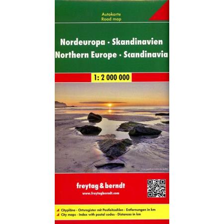 Skandynawia Europa Północna mapa 1:2 000 000