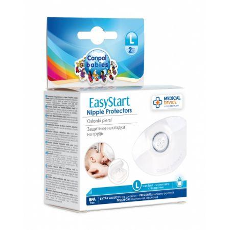 Silikonowe osłonki piersi L EasyStart