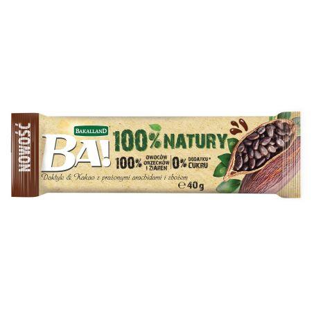 Ba! Baton Daktyle i Kakao z prażonymi arachidami i zbożem