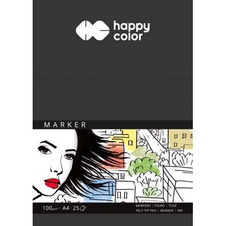 Blok do markerów ART A4/25K 100g Happy Color