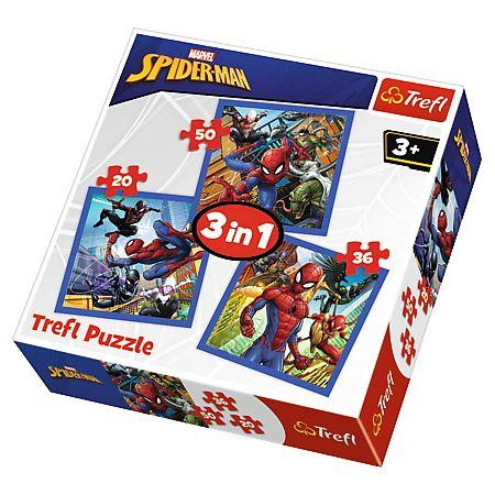 Puzzle 3w1 Pajęcza siła Spiderman TREFL