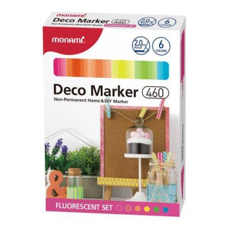Markery dekoracyjne fluorescencyjne Deco Marker 6 kolorów końcówka B ASTRA