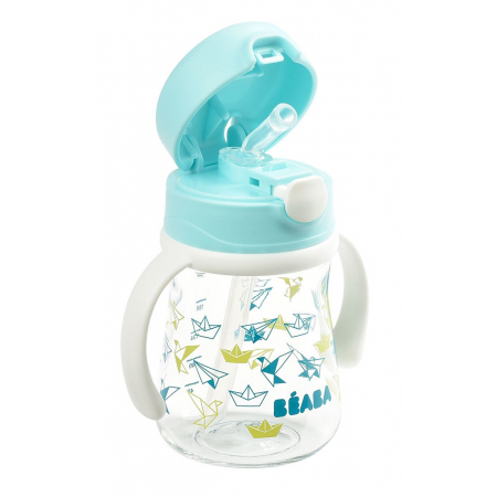 Beaba Butelka-bidon tritanowa ze słomką 240 ml Light blue