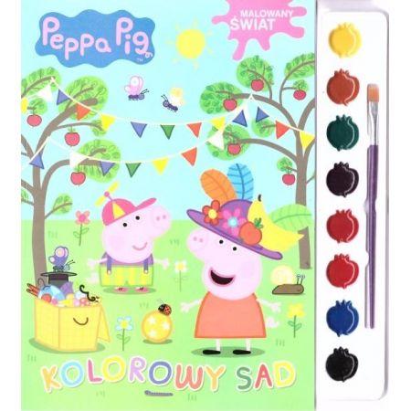 Świnka Peppa. Malowany świat. Kolorowy sad