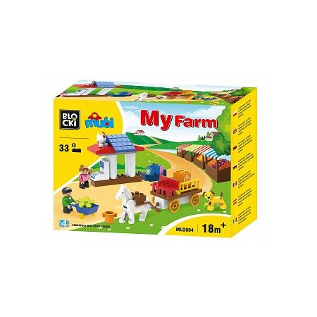 Klocki Blocki MUBI 33 elementów MyFarm Toys 4 All MU2004