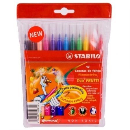 Flamastry Trio Frutti 12 kolorów STABILO