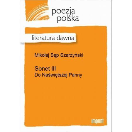 Sonet III