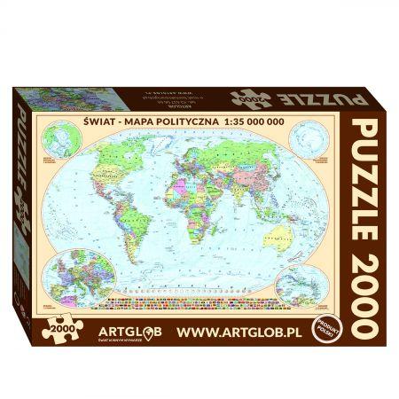 Puzzle Świat polityczny mapa 1:35 000 000  2000