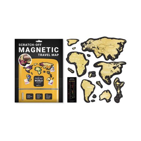 Mapa zdrapka świat travel magnetic world