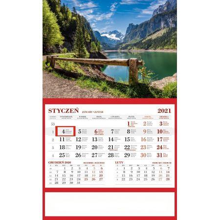 Kalendarz 2021 Ścienny Jednodzielny Alpy