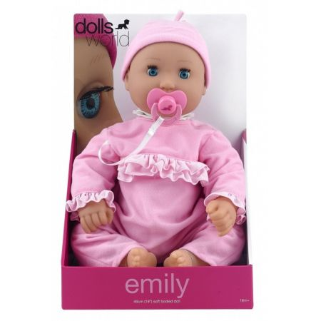 Lalka bobas Emily 46 cm jasnoróżowa