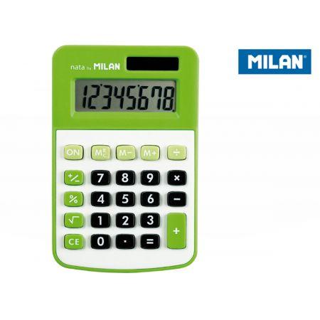 Kalkulator 8 pozycji mały zielony MILAN
