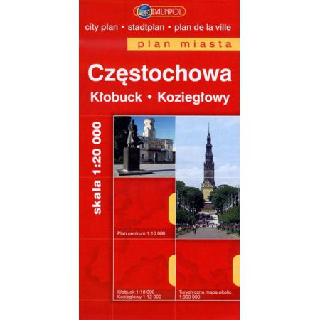 Częstochowa plan miasta 1:20000 Kłobuck Koziegłowy/Europilot//