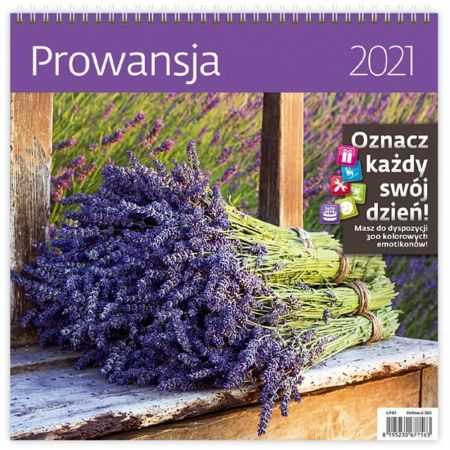 Kalendarz 2021 30x30 Prowansja HELMA