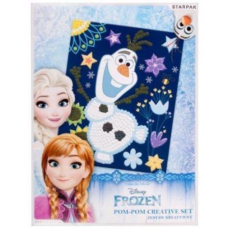 Zestaw kreatywny z pomponami Frozen
