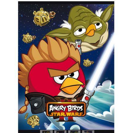 Zeszyt A5 laminowany w trzy linie 16 kartek Disney Angry Birds UNIPAP