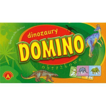 Domino obrazkowe - dinozaury ALEX
