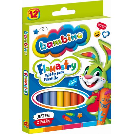 Flamastry 12 kolorów bls BAMBINO