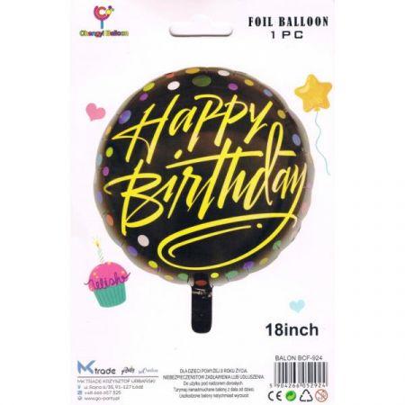 Balon foliowy Happy Birthday, 46 cm  BCF-924