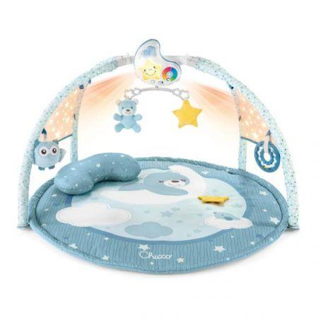 Chicco Mata dla niemowlaka 3w1 z melodiami i projektorem niebieska