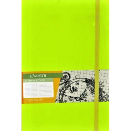 Notes A5 Kropki Impresja Limonka ANTRA
