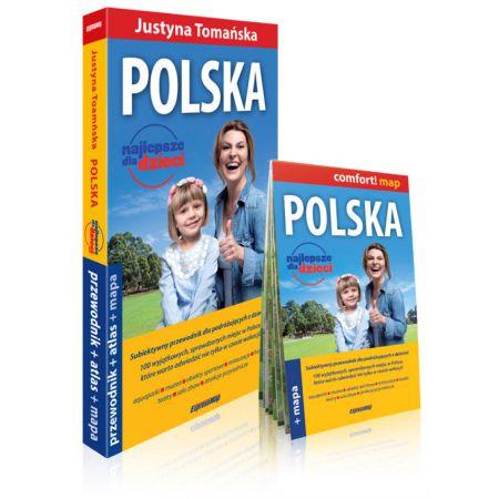 Polska najlepsze dla dzieci przewodnik+atlas+mapa