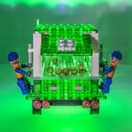Klocki. Laser Pegs. Recycle Truck