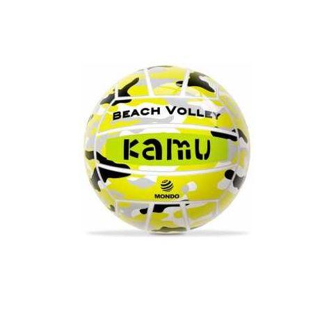 Piłka siatkowa gumowa KAMU MONDO Żółta